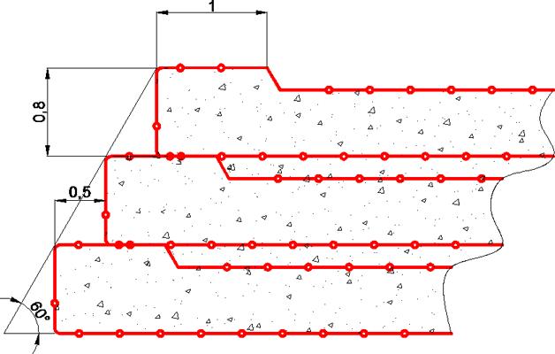 Рисунок 4. Схема устройства обойм в несколько ярусов