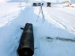 Подготовительные работы - удаление снежного наката.
