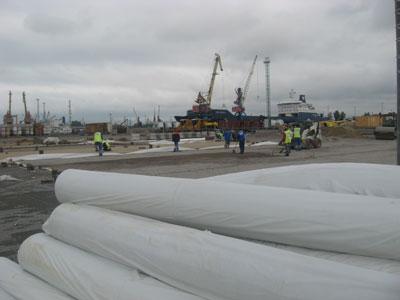 Геотекстиль в порту